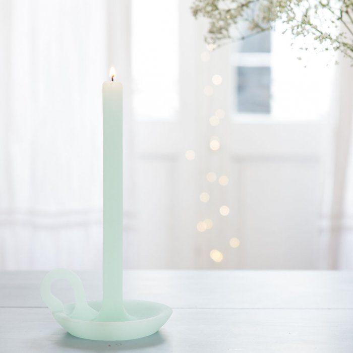 Bougie chandelier Vert d'eau