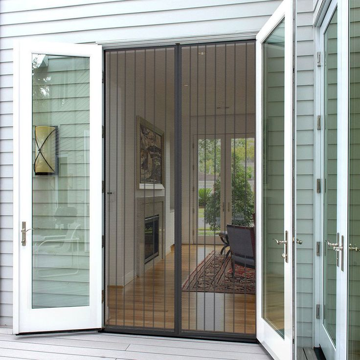 9 57 Insect Fly Screen Against Mosquito Bug Magnetic Auto Closing Mesh Door Curtain Ebay Home French Doors With Screens Magnetic Screen Door Screen Door