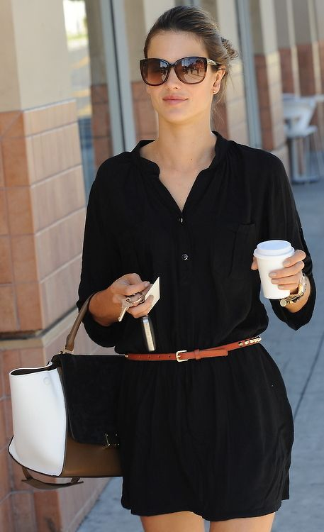 1000  ideas about Black Shirt Dresses on Pinterest | Classy black ...