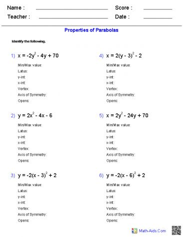 Solving Quadratic Inequalities Worksheet Encouraged To Help My Own