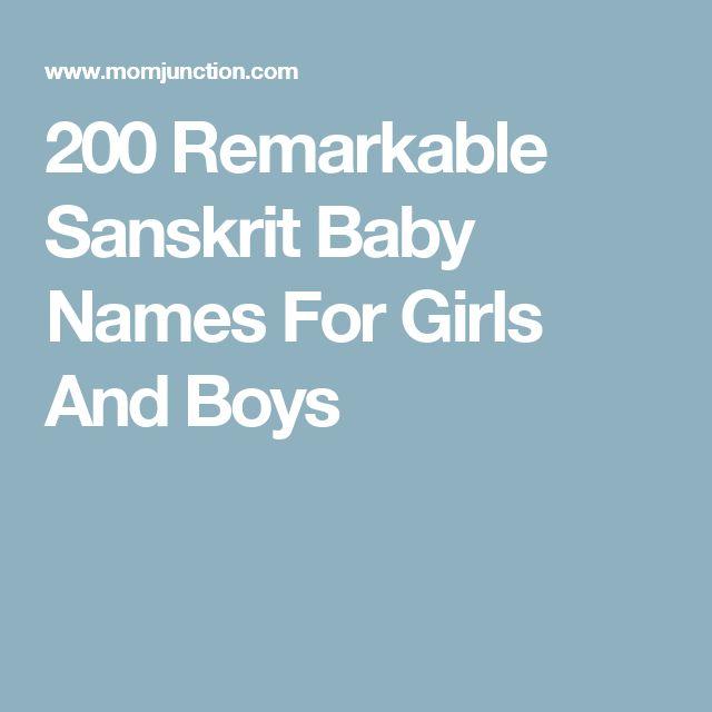 200 Remarkable Sanskrit Baby Names For Girls And Boys