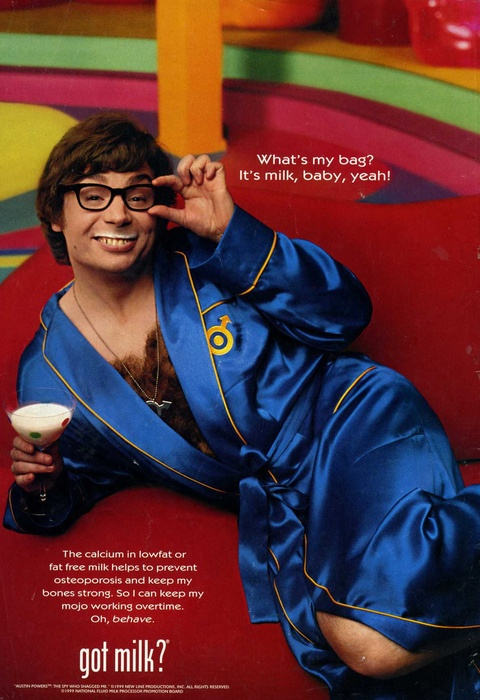 """Love the whole """"Got Milk"""" campaign, but this one is the grooviest!"""