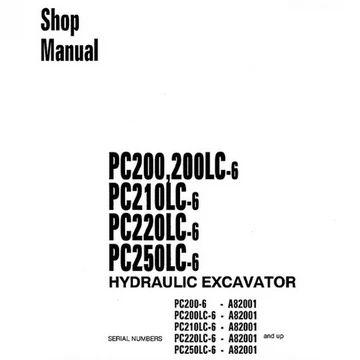 Komatsu PC200-6, PC200LC-6, PC210LC-6, PC220LC-6, PC230LC