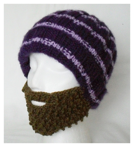 17 Best images about hats with beard/hats (knit) on Pinterest Free pattern,...
