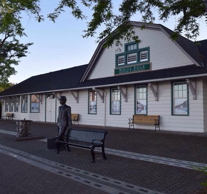 White rock train station...