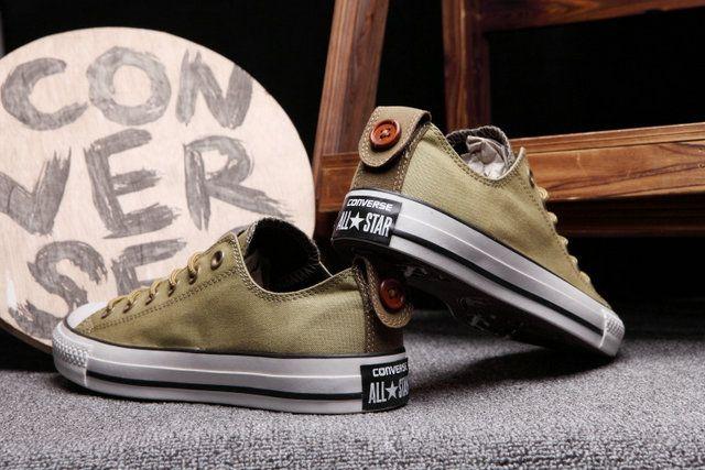 ddc74a2a6ecdc2  converse Classic Converse Button Back Chuck Taylor All Star khaki Low Tops  Canvas Sneakers