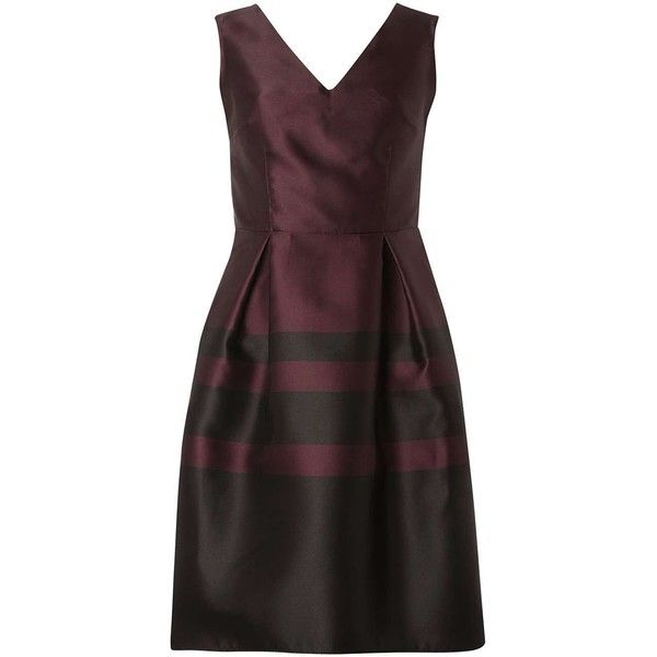 **Luxe Merlot Stripe Prom dress ($35) ❤ liked on Polyvore featuring dresses, merlot, luxe dresses, structured dress, stripe dresses, striped dress and prom dresses