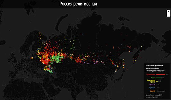 Distribution of religions in Russia on Behance