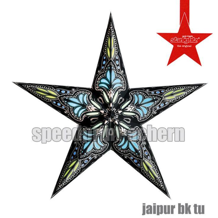 STARLIGHTZ Jaipur schwarz-türkis, schwarz-pink oder orange-rot 5 Spitzen - M
