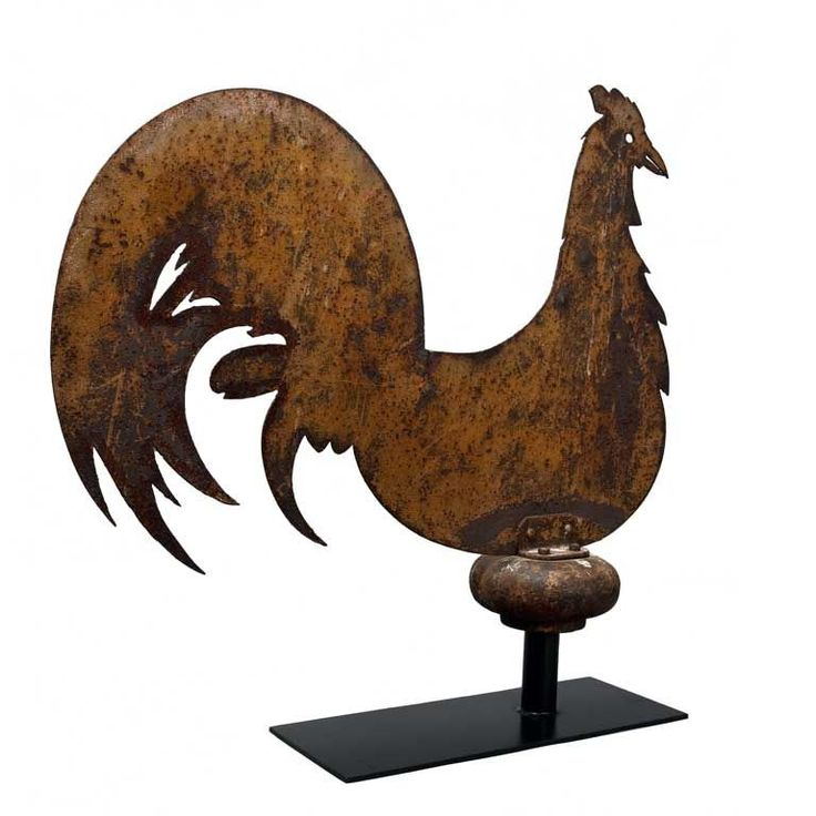 Love the form.  19th Century Rooster Weathervane, New York State.
