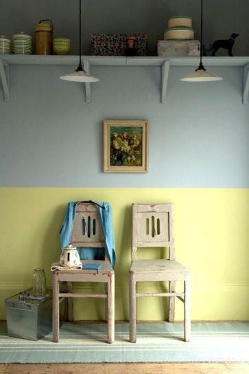 Bem Arranjado: Meia Parede: pintura, tijolo, papel de parede, tecido e madeira de demolição, a parede não estará mais em segundo plano