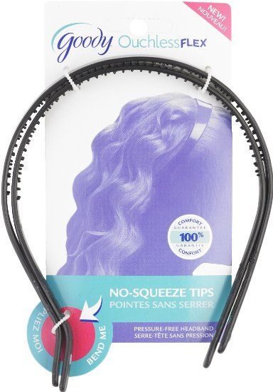 Amazon.com: Goody Ouchless Flex Thin Pressure-Free Headband, 2 Count (Pack of 3): Beauty