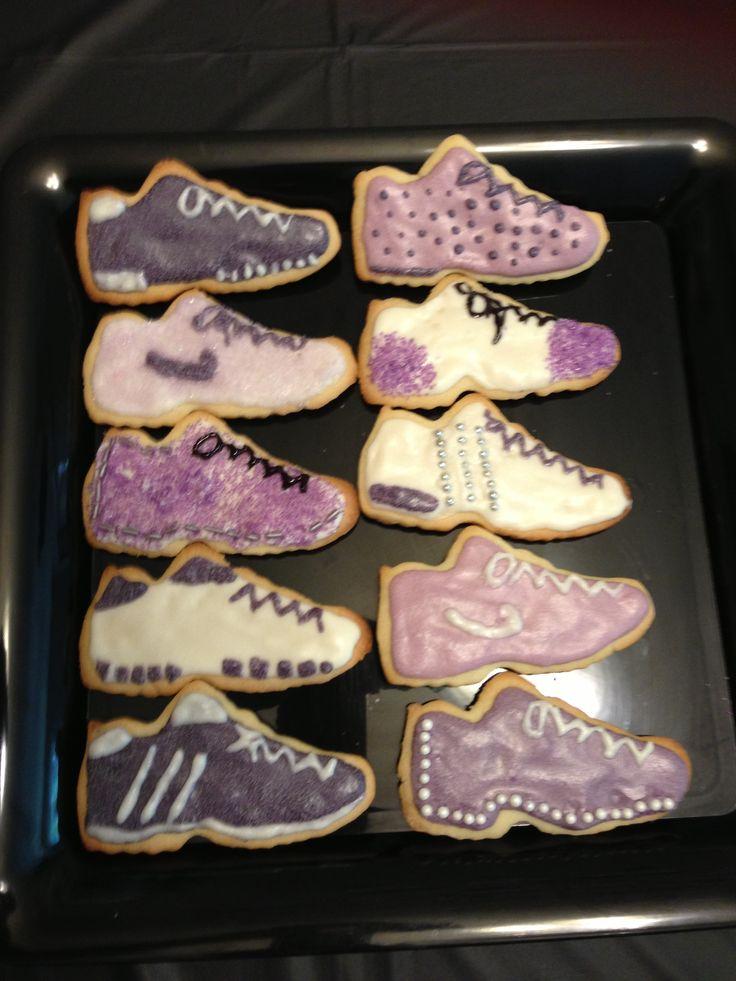 Running Shoe shaped sugar cookies  Wedding  Cookies