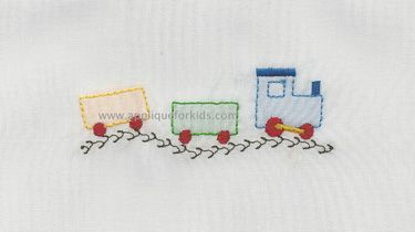 Whimsical & fun little shadow work by machine train!