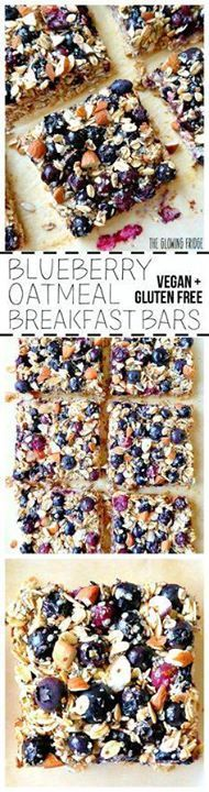 VEGAN & GF. Blueber VEGAN & GF. Blueberry...  VEGAN & GF. Blueber VEGAN & GF. Blueberry Oatmeal Breakfast Bars that are wholesome super clean nutritionally balanced naturally sweetened and have the added superfood goodness of chia seeds and hemp seeds. Eat one square alongside a smoothie for breakfast or as a yummy post-workout snack. From The Glowing Fridge. Recipe : http://ift.tt/1hGiZgA And @ItsNutella  http://ift.tt/2v8iUYW