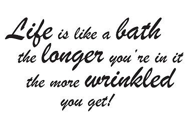 LIFE IS LIKE... BATHROOM WALL STICKER ART DECALS QUOTE