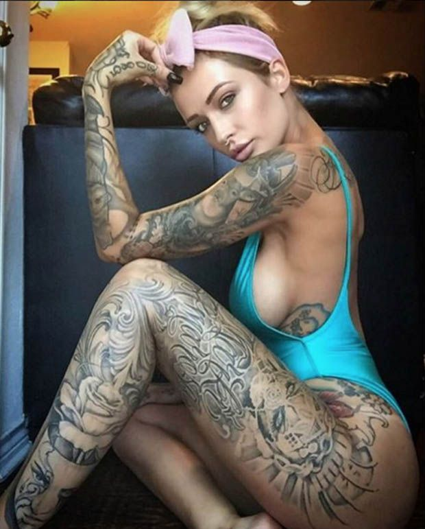 218 best tattoo models images on pinterest tattooed for Sex porn tattoo