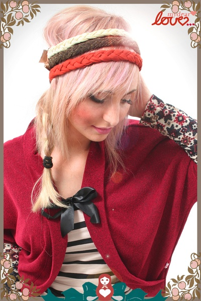 "mydearlove Headband Flecht-Haarband/Kragen ""Valeria""- Rost,Gold,Creme"