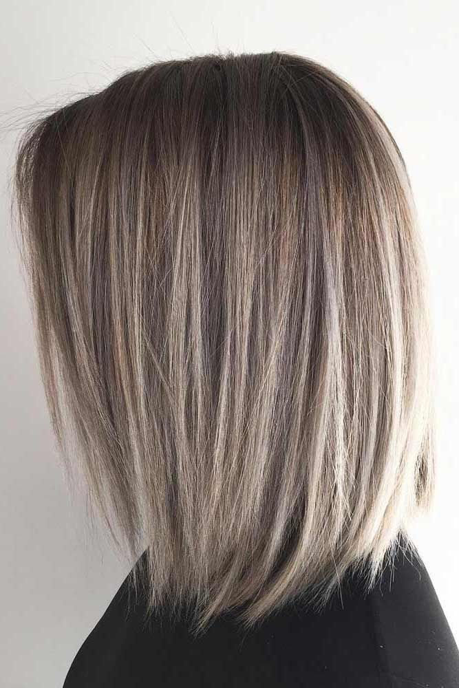Perfect ash brown color with short blunt cut in 2019
