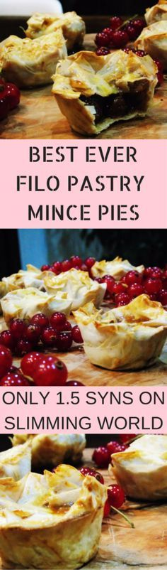 DELICIOUS (1.5 syn) FILO PASTRY MINCE PIES! Low Syn Mince Pies - Slimming - World - Mince - Pies - Christmas - Recipe - Low - Syn