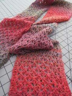 best friend lace scarf - the knitting buzz. I am so into self striping. I've just finished several projects with Cascade's Casablanca.