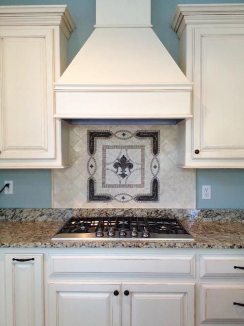 Fleur De Lis Kitchen Backsplash Tile Mosaic Medallion
