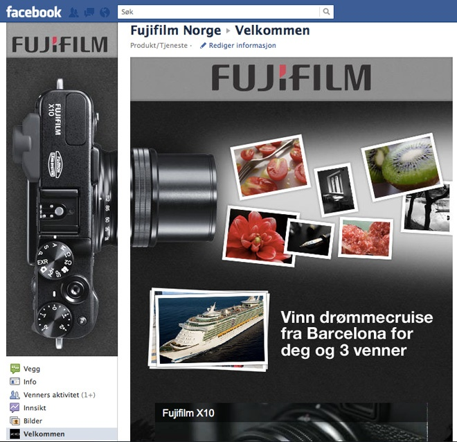 Fujifilm Norge på Facebook