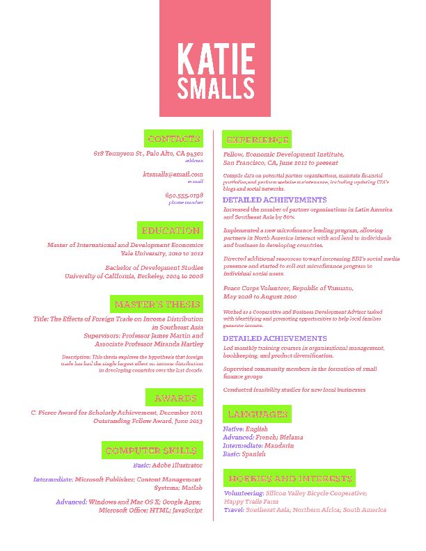 31 best CV images on Pinterest Creative curriculum, Creative - circular clerk sample resume