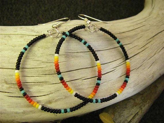 Seed Bead Earrings on Etsy, $15.00