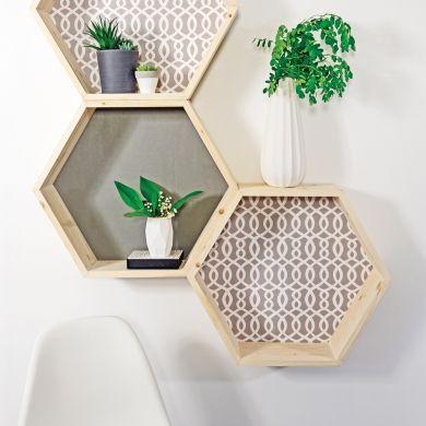 DIY - Tablettes géométriques - En étapes - Décoration et rénovation - Pratico Pratique