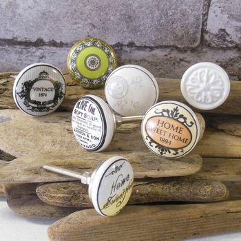 vintage handpainted cupboard bedroom knobs pulls by pushka knobs | notonthehighstreet.com