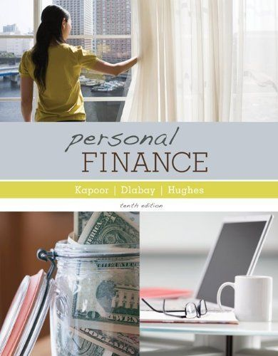 Loose Leaf Personal Finance with Connect Plus by Jack Kapoor. $168.44. Publisher: McGraw-Hill/Irwin; 10 edition (June 1, 2012)