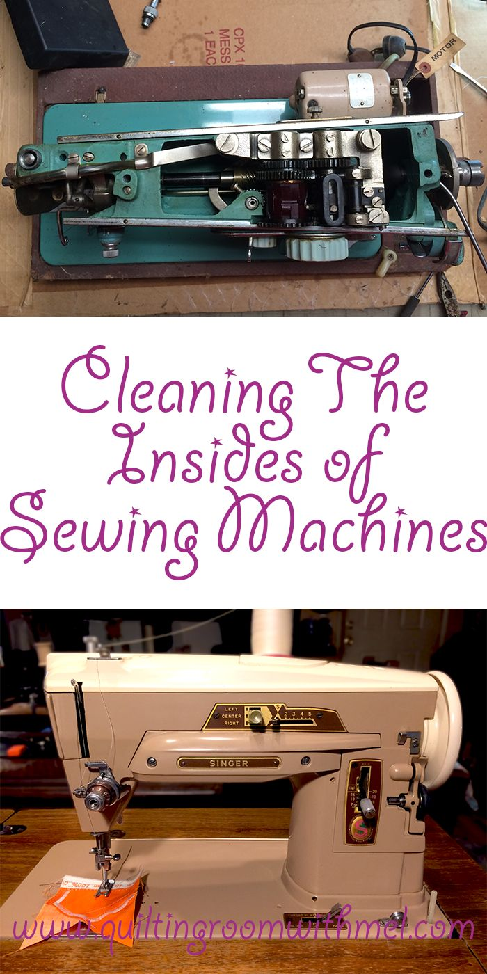 Learn how to get the gunk out of a vintage sewing machine so they run like brand new again.