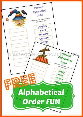 FREE Put Words in Alphabetical Order Printables! My son had so much FUN with these today!