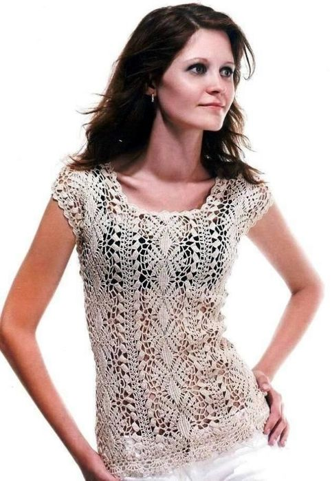 Free Crochet T shirt / Blouse Patterns