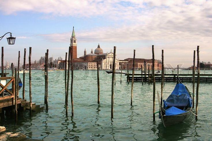 Фондовых изображение 'Гранд-канал и Сан-Джорджо Маджоре церкви в Венеции, Италия'