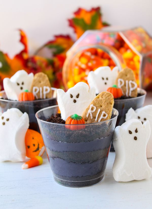 Halloween Cheesecake Parfaits - The Food Charlatan These are so easy to make, plus you can do it ahead of time! Kids love them.