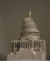 Architectural model by Timothy Richards.  United States Capitol.  $580.00: Building Zabytki, Miniatures Landmarks, Models Building, Miniatures Building, Grand Tours, Timothy Richard, States Capitol, Pequeña Arquitectura, Architecture Models