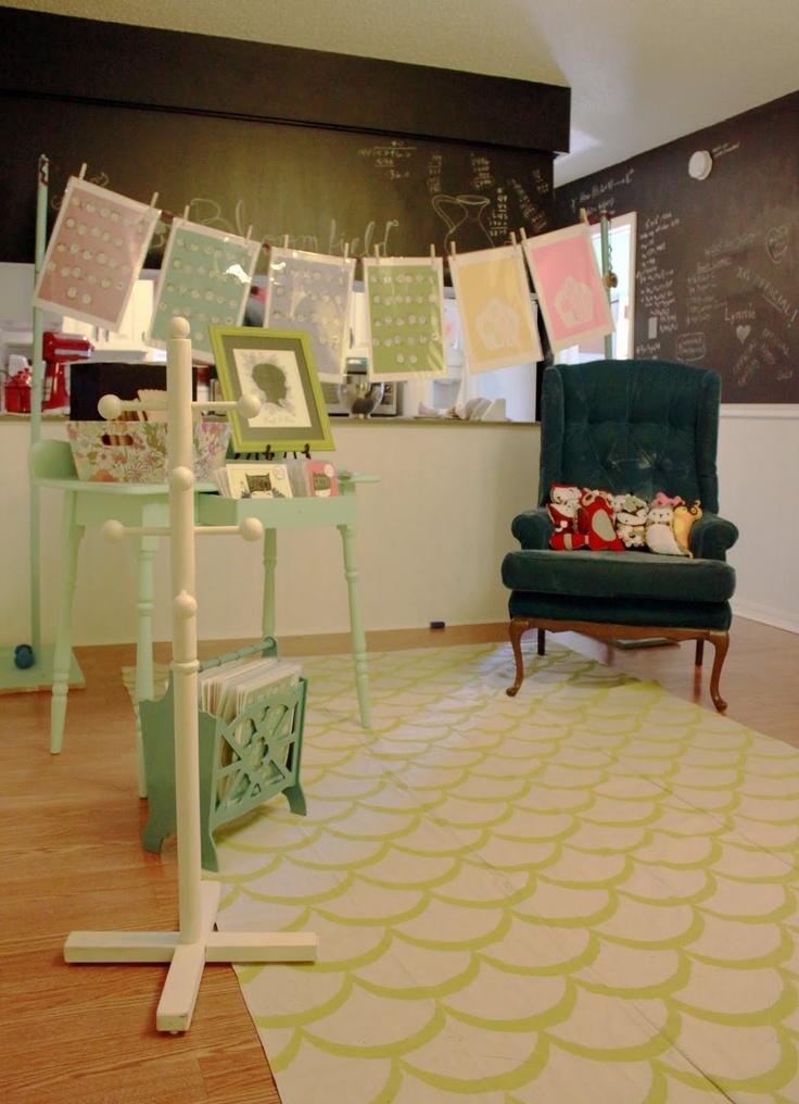canvas drop cloth rug
