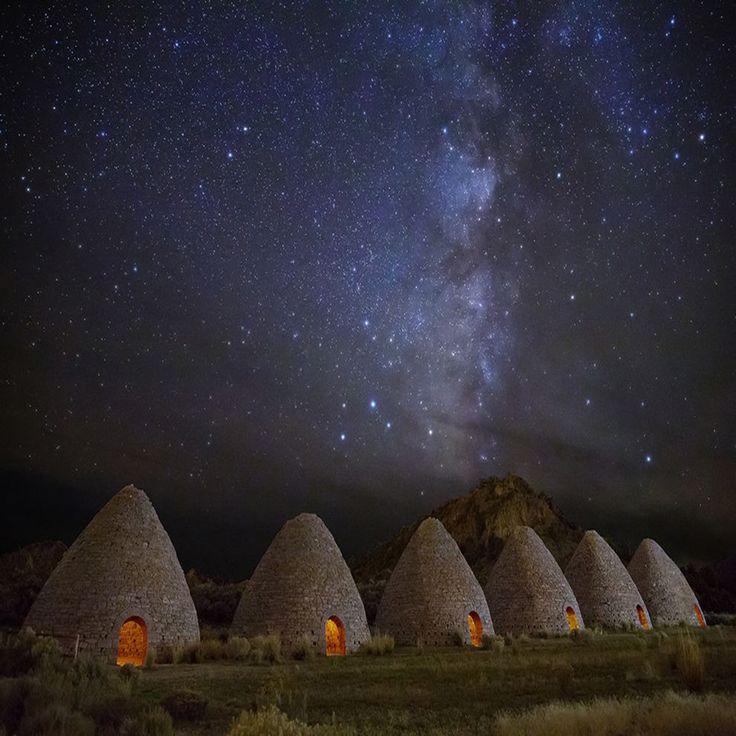Fornos de carvão, Nevada. Fotógrafo: Royce Bair. | USA ...