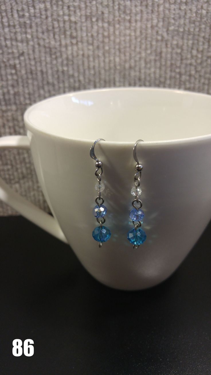 beautiful dangle earrings ~ sparkly ~ pretty ~ silver ~ blue ~ elegant ~ trendy #homemade #madeinusa #diy #craft #etsy #ebay #earrings #jewelry #crafter #art #handmade #metal #trendy #elegant #beautiful #ideas #cute #simple #fun #unique #piercings #gift #present #giftidea #birthday #mothersday #girlfriend #christmas #product #photos #photoshoot #productphoto #photography #studio #studiolighting #lighting #backdrop #homemadeearrings