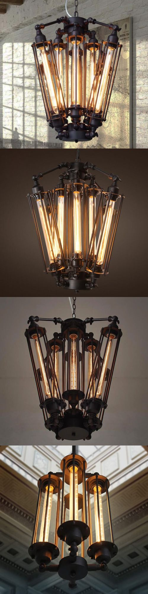 Special vintage style industrial edison ceiling lamp w bulb old - Chandeliers And Ceiling Fixtures 117503 Vintage Industrial Metal Steampunk Chandelier Edison Bulb Pendant Hanging Lamp