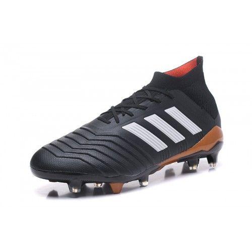 Adidas Classic - Chaussures De Football Acheter 2018 Adidas Predator 18.1  FG Noir Blanc Or Outlet