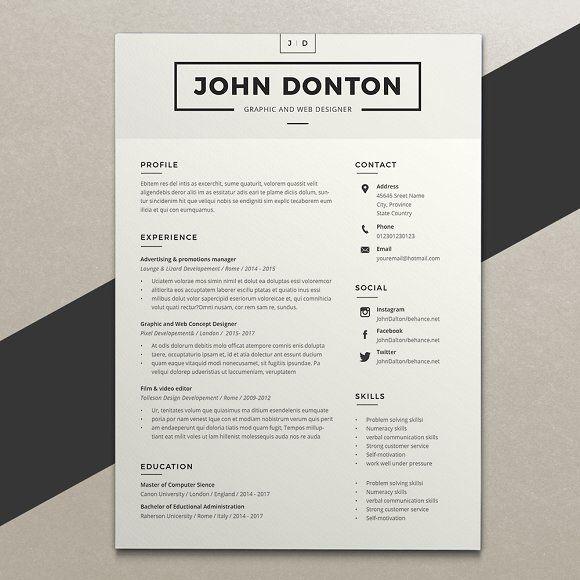 56 best Resume Templates images on Pinterest Resume templates - pages resume templates