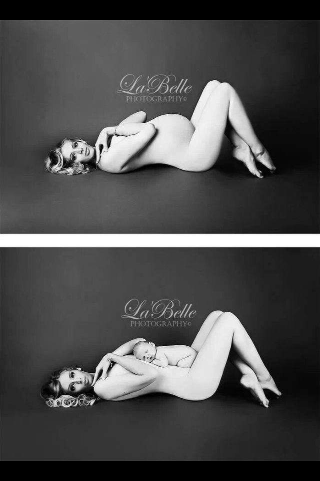 Baby Pregnant pics. Beautiful black and whites. Before and After.