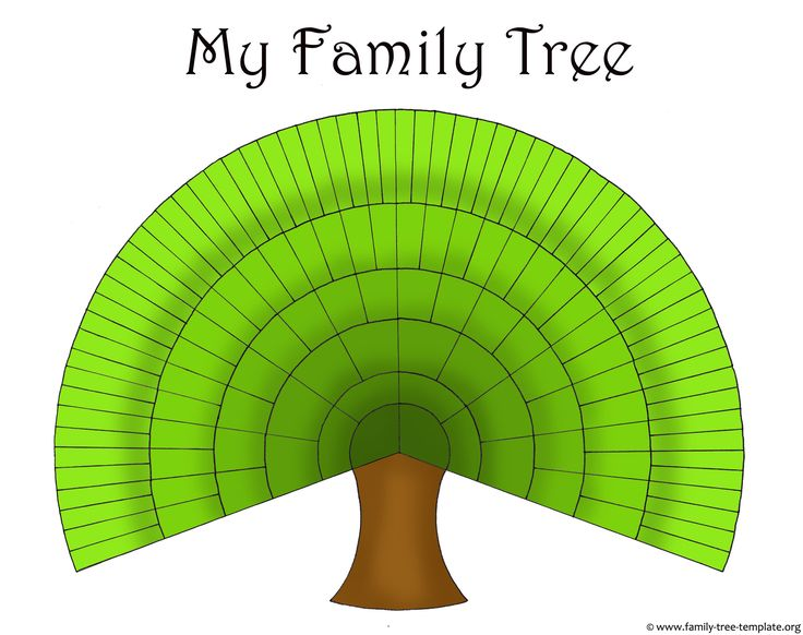 Really large family tree with space for including great-great-great-graeat-grandparents.