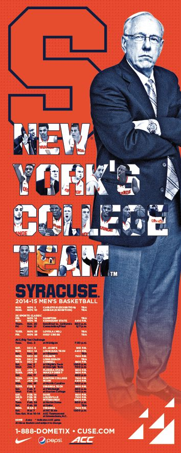 Syracuse Men's Basketball Poster (2014-2015)