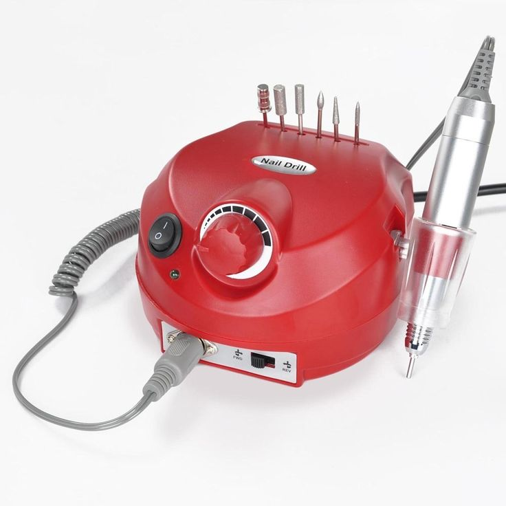 Promotion!!! Convenient and Practical!!! Belle® Hot Attractive Red Manicure Electric Nail Polish Drill File Salon Art Tool Kit for Acrylics, Gels, Natural Nails,with Six Bits Holes to Hold the Bits