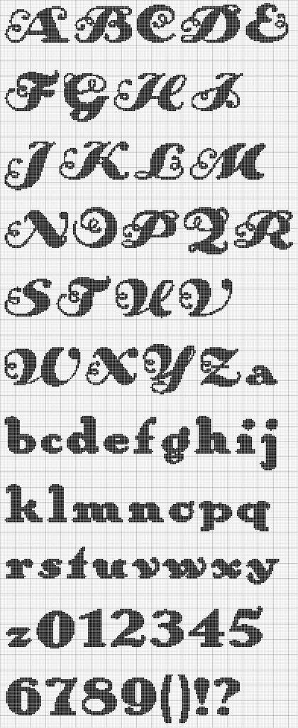 Graficos de letras pequeñas en punto de cruz - Imagui