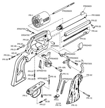 Exploded Pistol Dimensions Related Keywords Suggestions